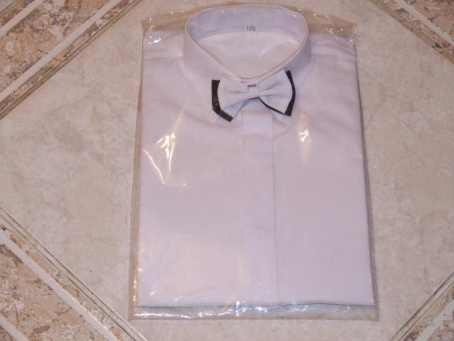 košeľa biela s motýlikom