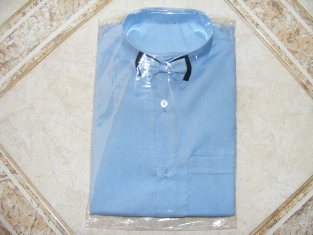 košeľa modrá motýľ