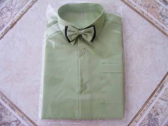 košeľa zelená motýľ