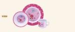 tanierová súprava ružová